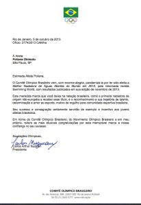 Carta COB à Poliana Okimoto
